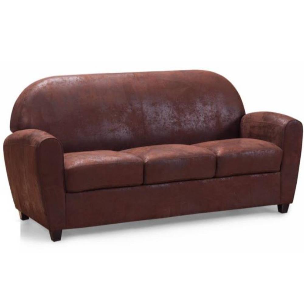 Canapé club en tissu ou cuir vieilli au meilleur prix