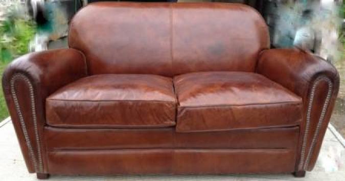 s canapé club cuir vieilli