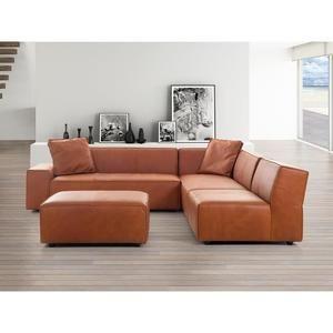 Canapé d angle canapé en cuir vintage cognac sofa Adam