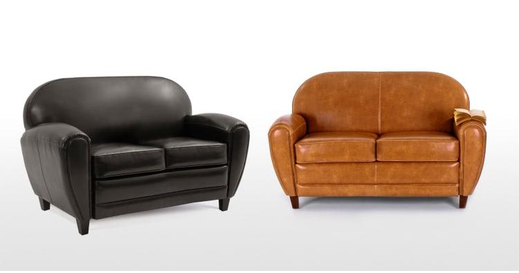 Jazz un canapé cuir 2 places coloris cognac