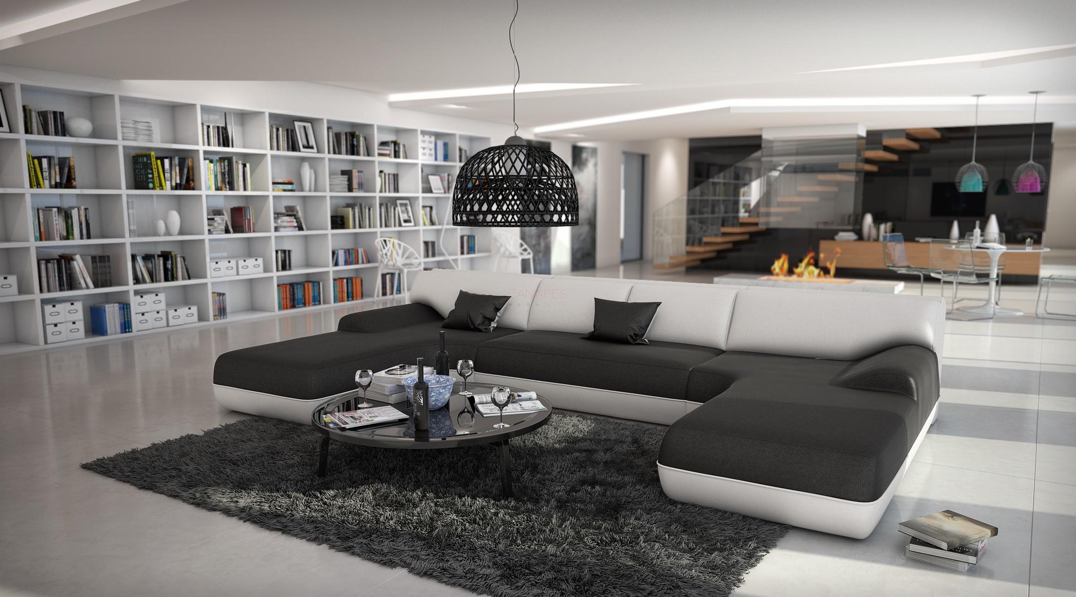 Canapé d angle design en cuir TARRA XXL 1 939 00