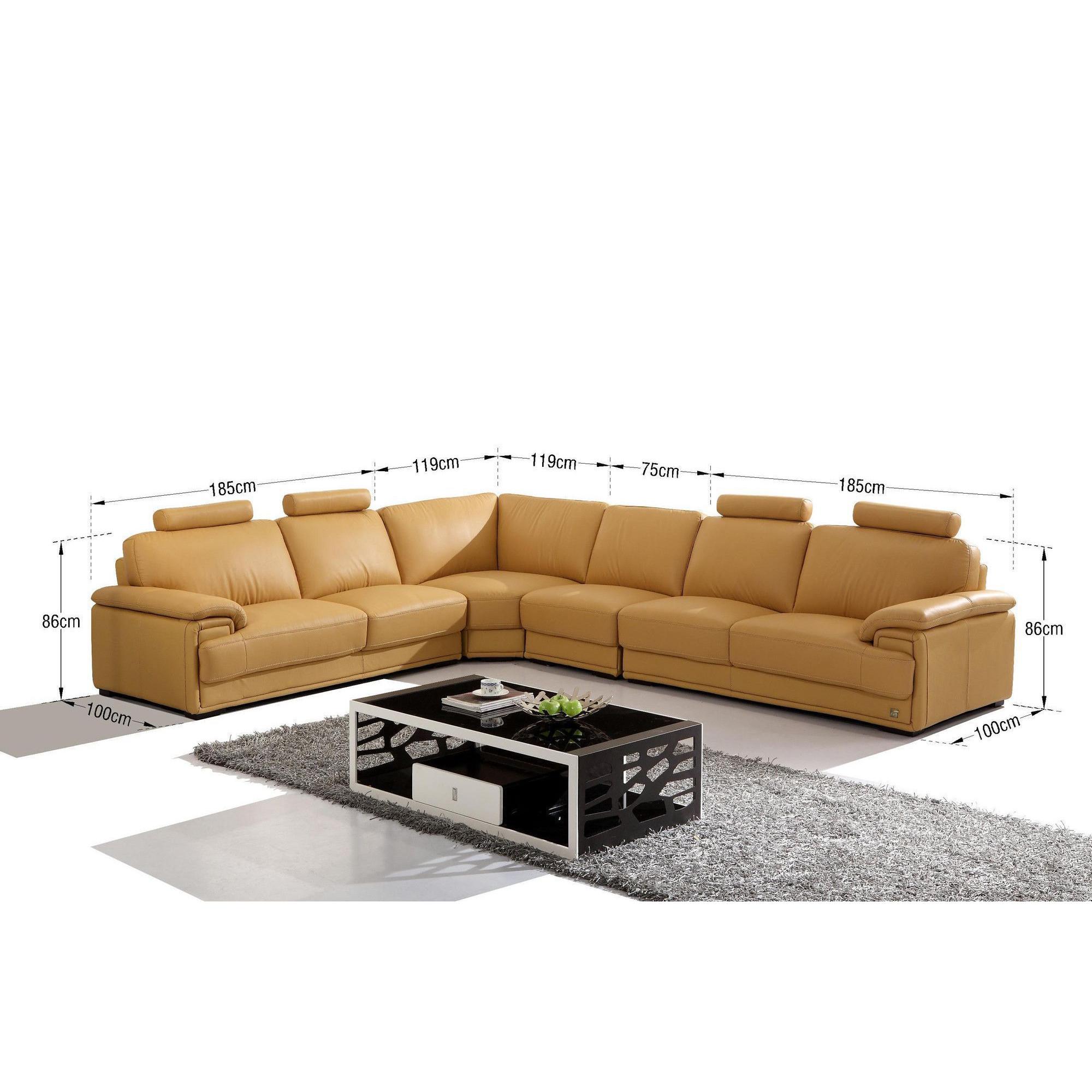 Canapés d angle design cuir véritable doré Canapés d