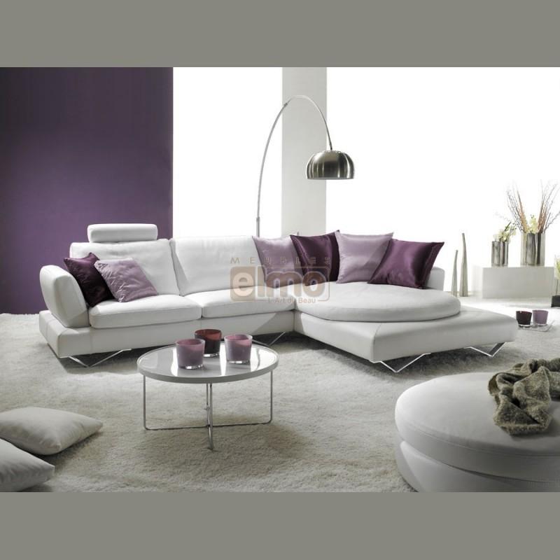 Collection de canapés cuir ou tissu contemporains design