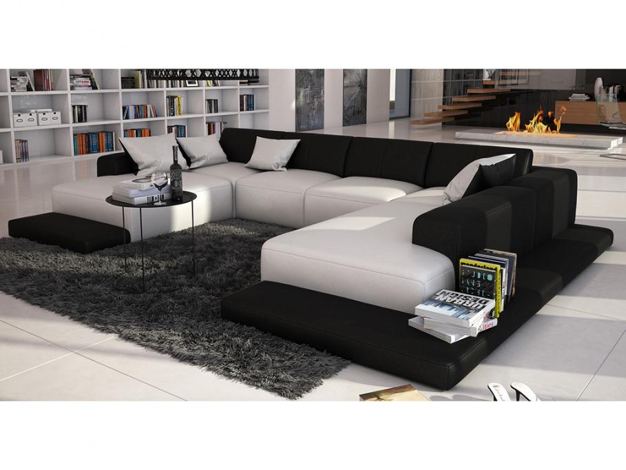 DECCO INTERIEUR Canapé DESIGN Futura Panorama 7 places
