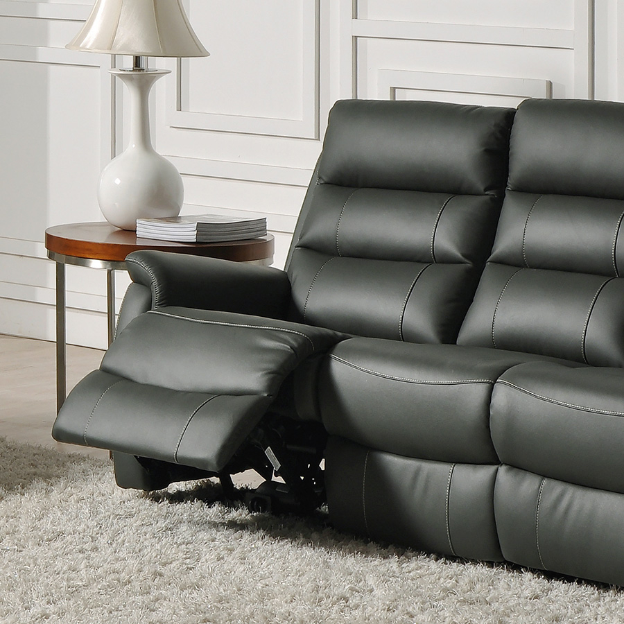 Canapé cuir 3 places relax électrique