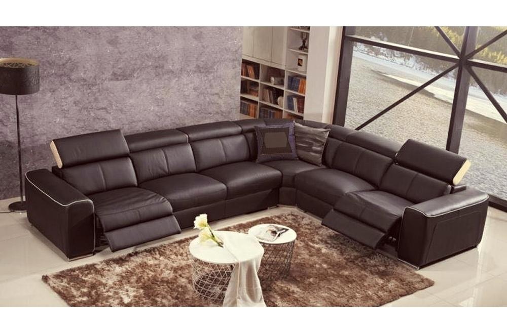 Canapé d angle double relax électrique en cuir de buffle