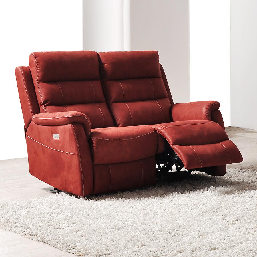 Canape relax électrique 2 places en tissu