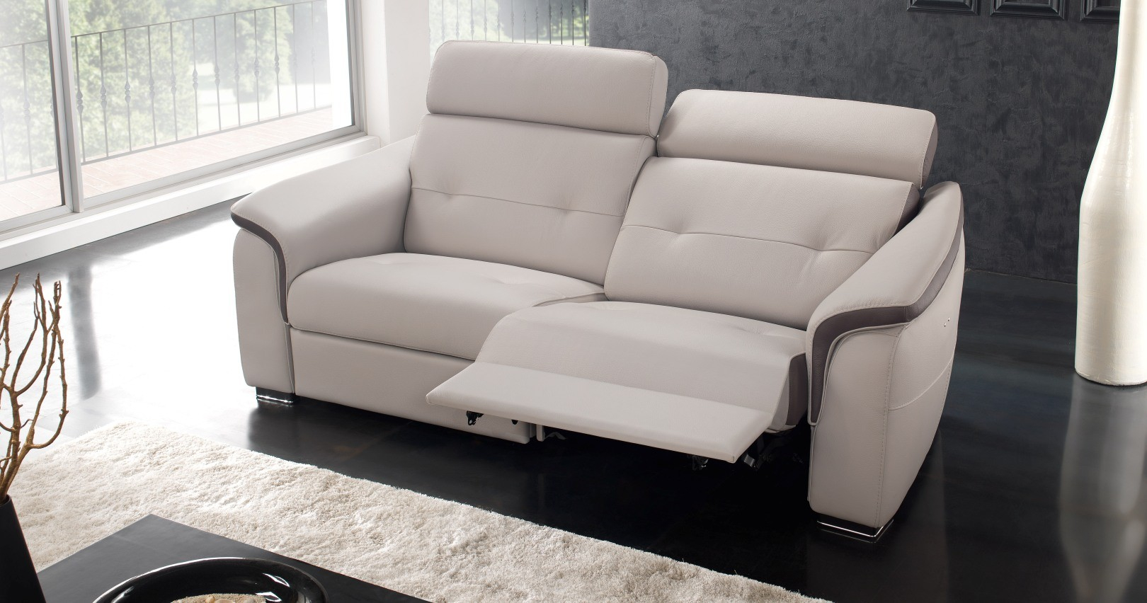 Canapé relaxation électrique LOREDA Cuir Premium