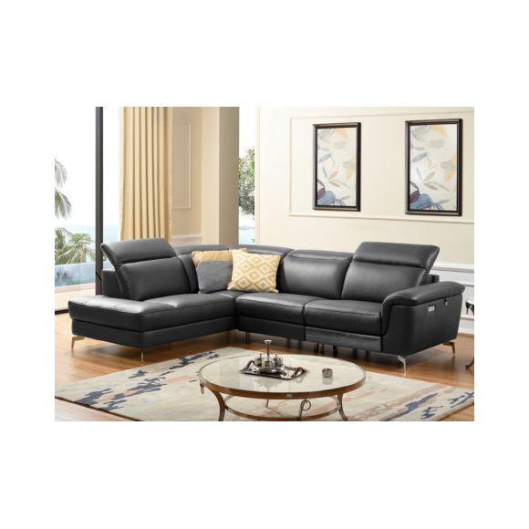 LINEA SOFA Canapé d angle relax électrique en cuir OLBIA