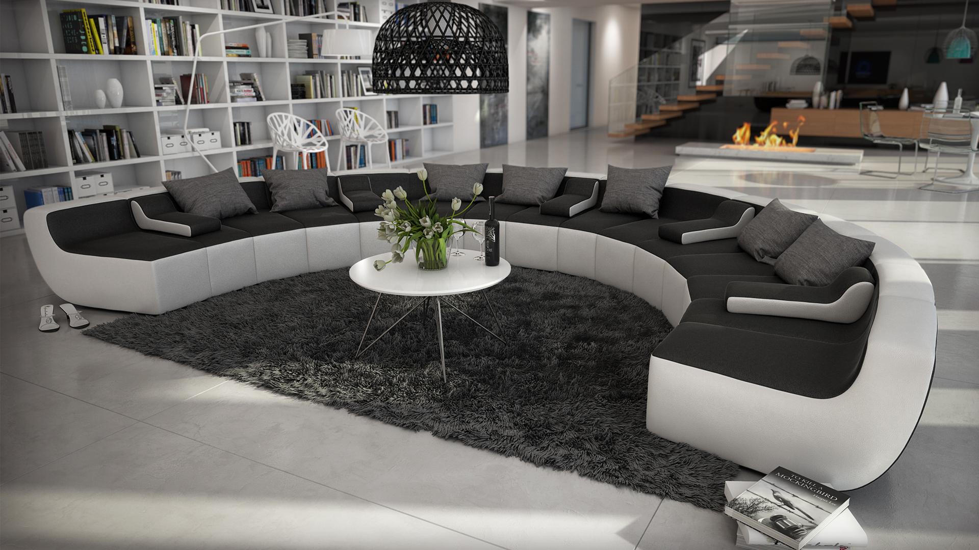Canapé d angle cuir panoramique Canapé d angle cuir