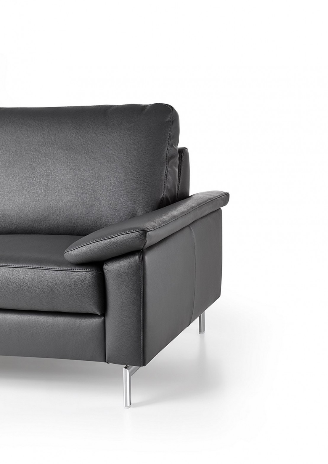 Canapé d angle en U dossier haut ou bas en cuir ELIS