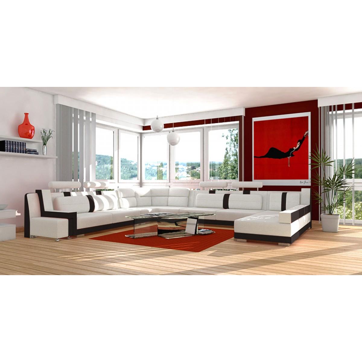 Canapé en U cuir ou tissu NAIROBI