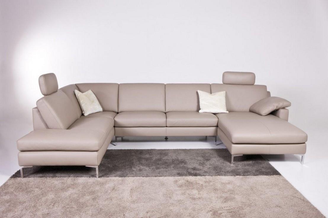Grand canapé d'angle 6 places SQUARE TM en U cuir ou tissu