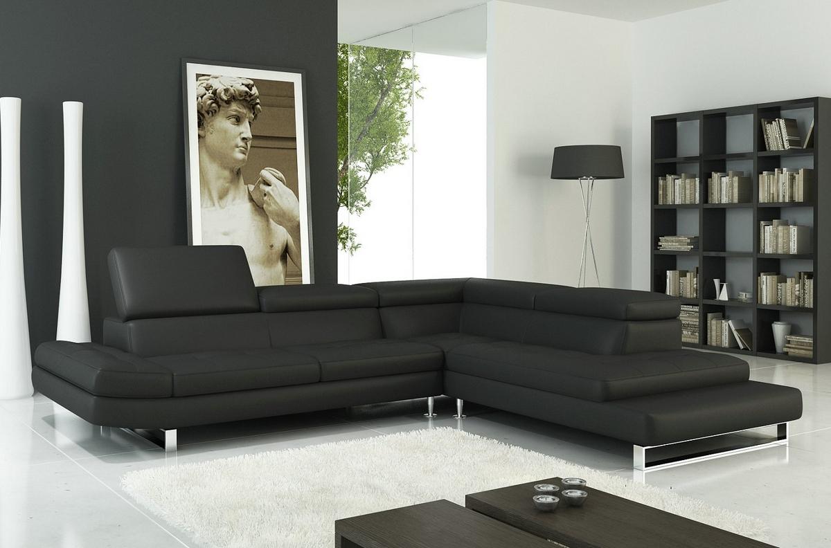Canapé d angle CHAMPAGNE en cuir haut de gamme italien