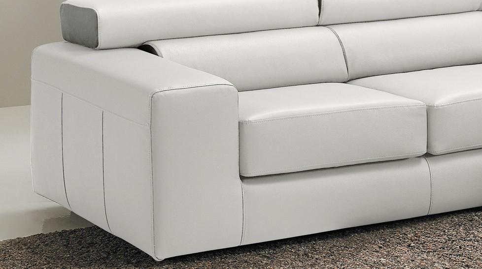 Canapé d angle réversible en cuir blanc haut de gamme