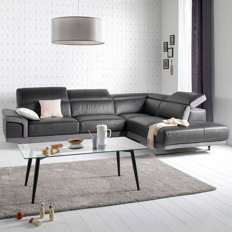 20 salons inspirants avec un canapé en cuir Blog BUT