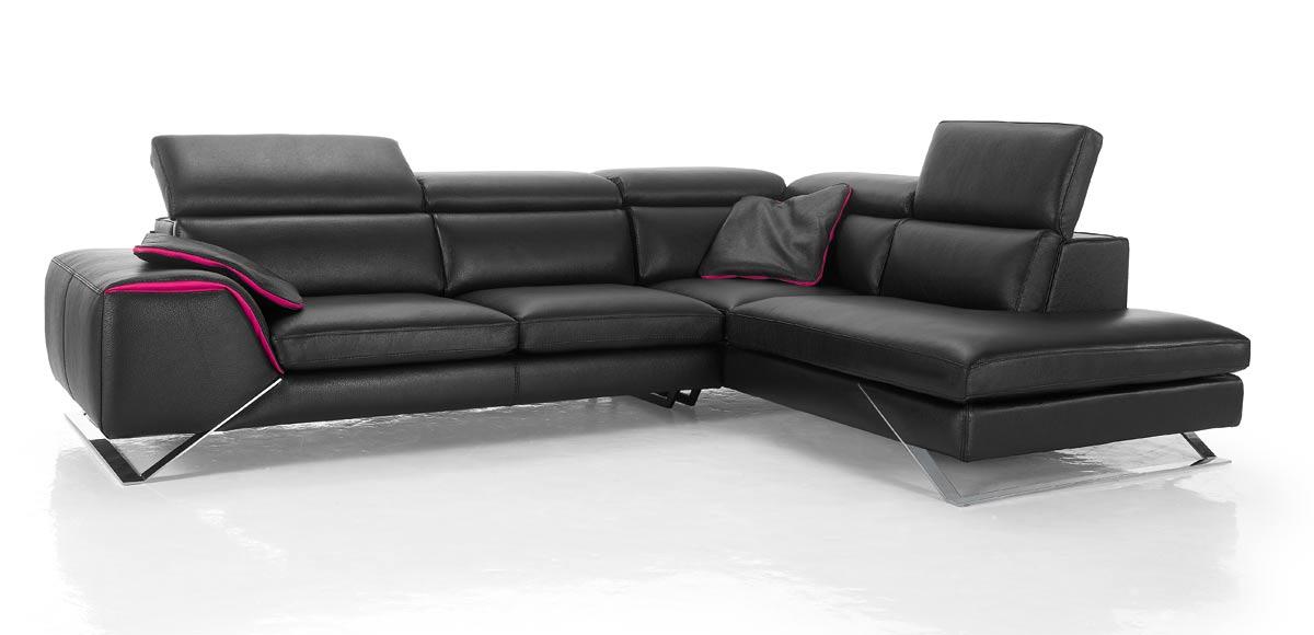 Canapé d angle avec grande méri nne cuir haut de gamme Upper