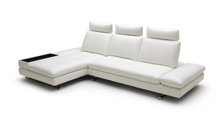 Canape d angle en cuir contemporain Minho Mobilier Moss