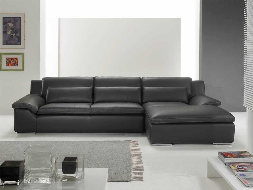 Canapé d angle en cuir de vachette haut de gamme