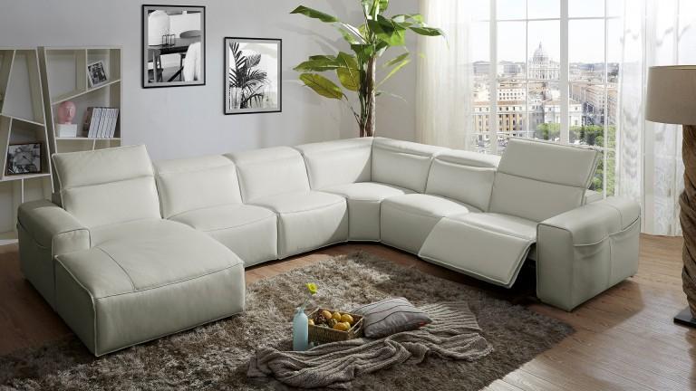 Canapé d angle relax cuir Ameland avec méri nne