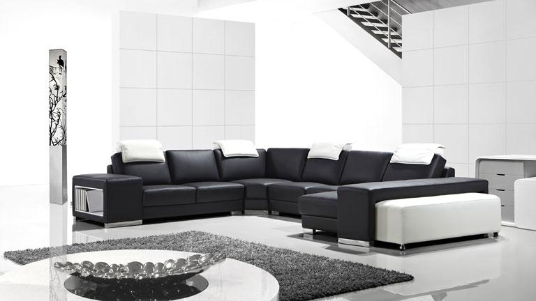 Canapé Cuir Moderne Canapé D Angle Panoramique Cuir Design Genicy Mobilier Moss