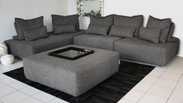 Canapé avec dossier modulable Larvik 5 places en tissu