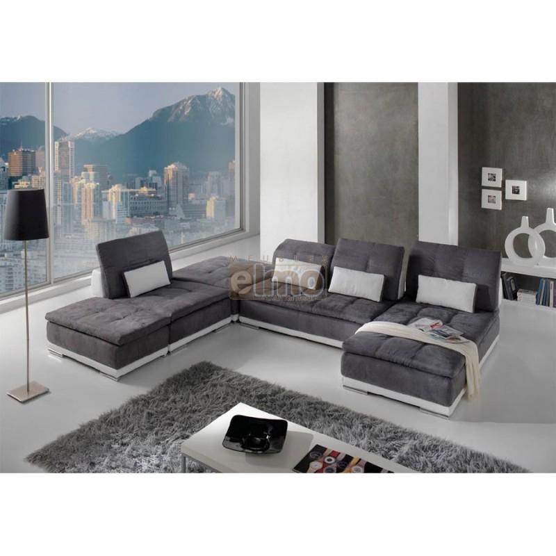 Canape cuir contemporain design italien