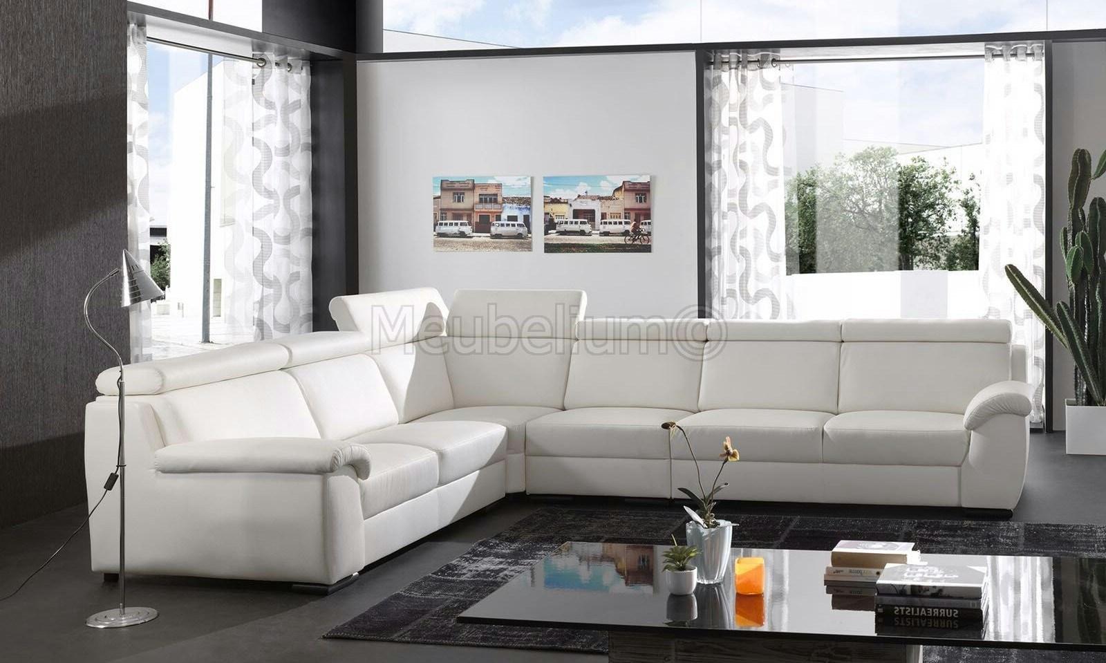 Canapé d angle design panoramique confortable haut de