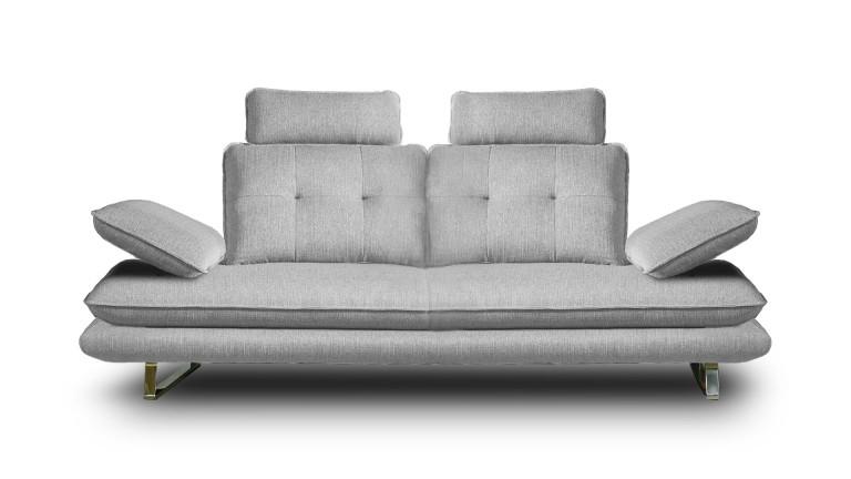 Canapé relax Kosveg 3 places en tissu avec dossier
