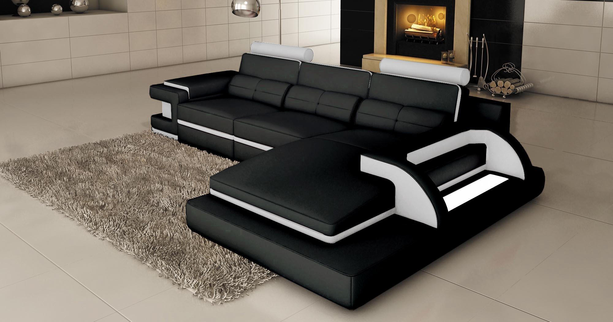 Deco Noir Et Blanc canape cuir noir deco in paris canape d angle cuir noir et