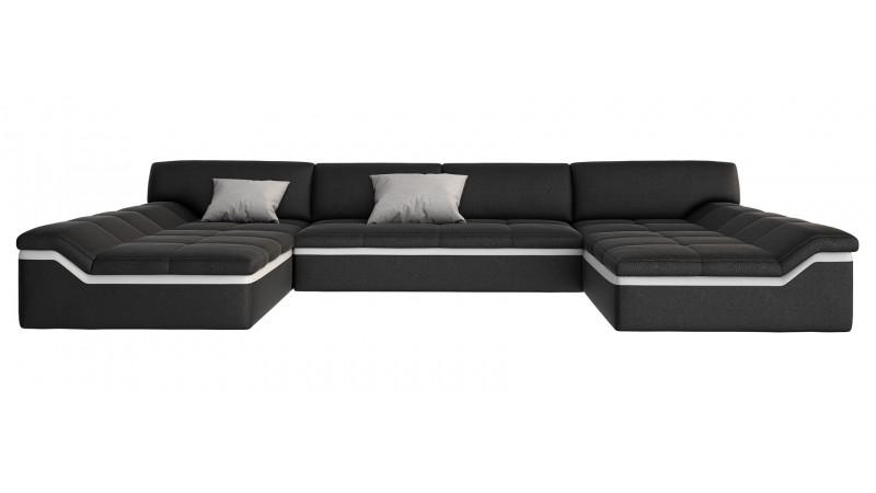 Canapé design panoramique en cuir simili cuir Dorog