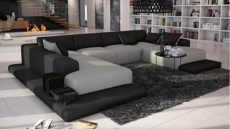 Canapé panoramique d angle en cuir Kherson GdeGdesign