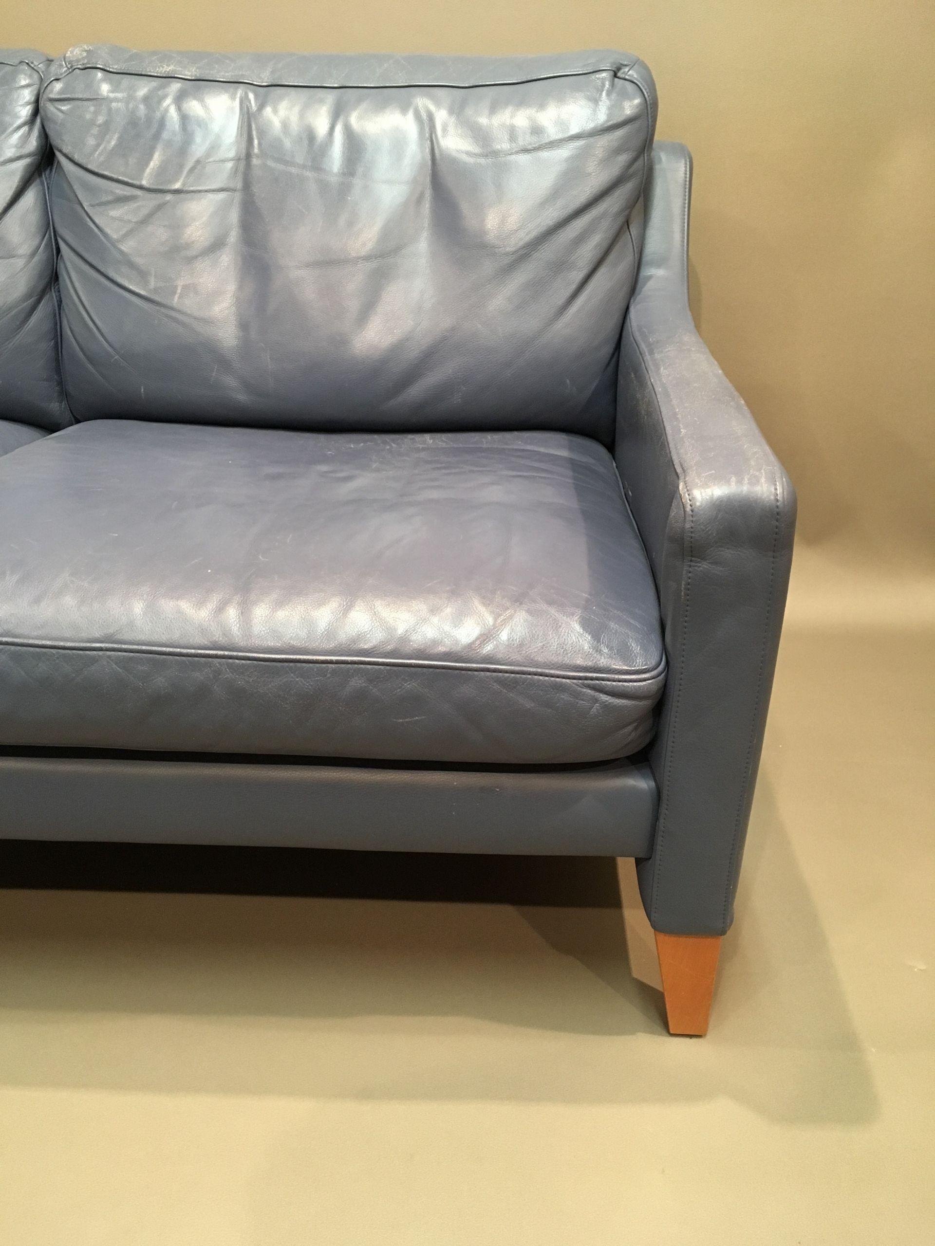Canapé scandinave en cuir 2 places
