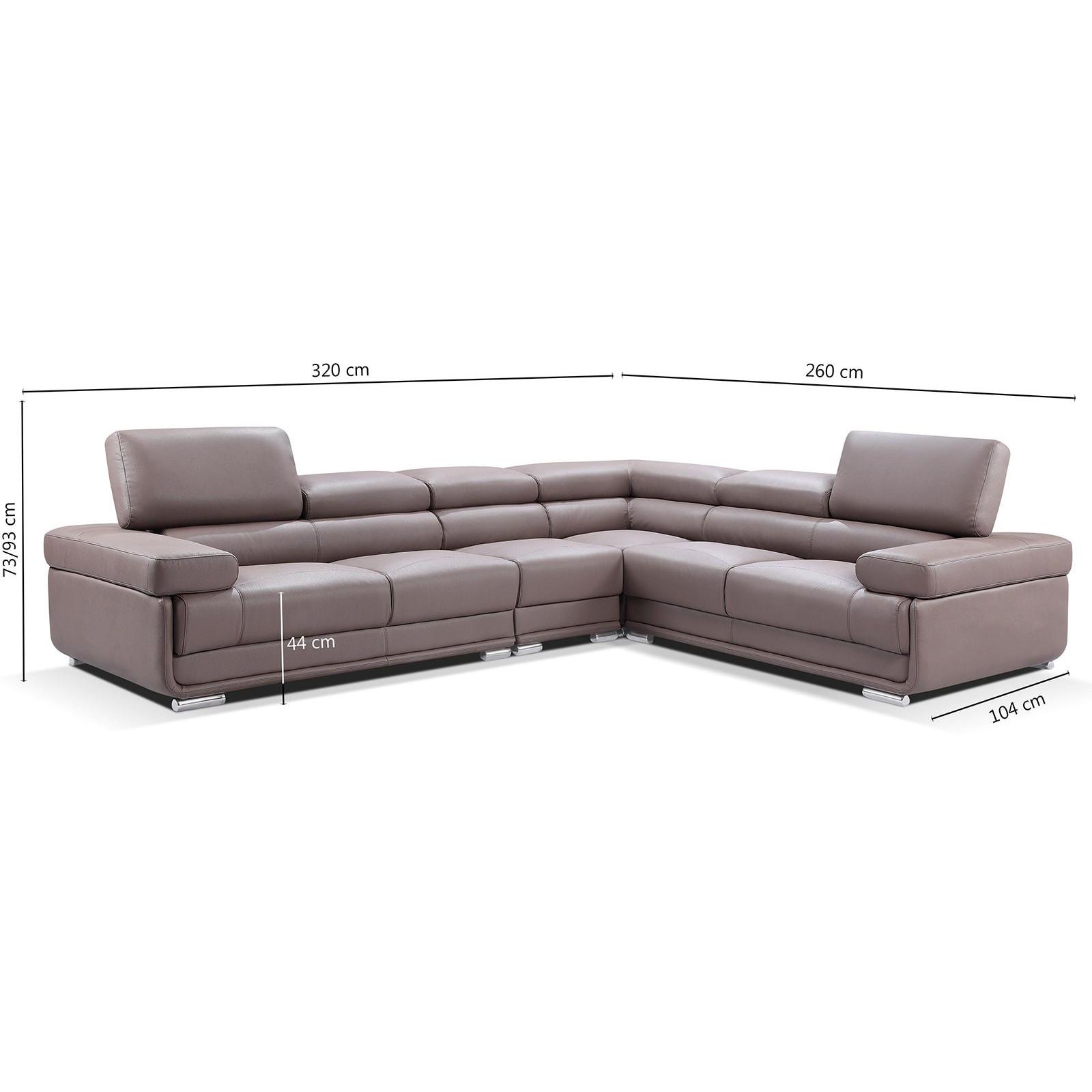 Salon Canapé d angle design MARIA à 6 places en simili