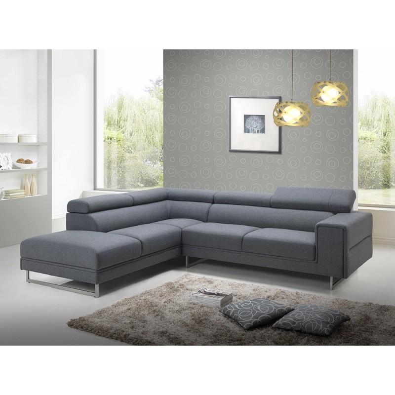 Canapé d angle côté Gauche design 5 places avec méri nne