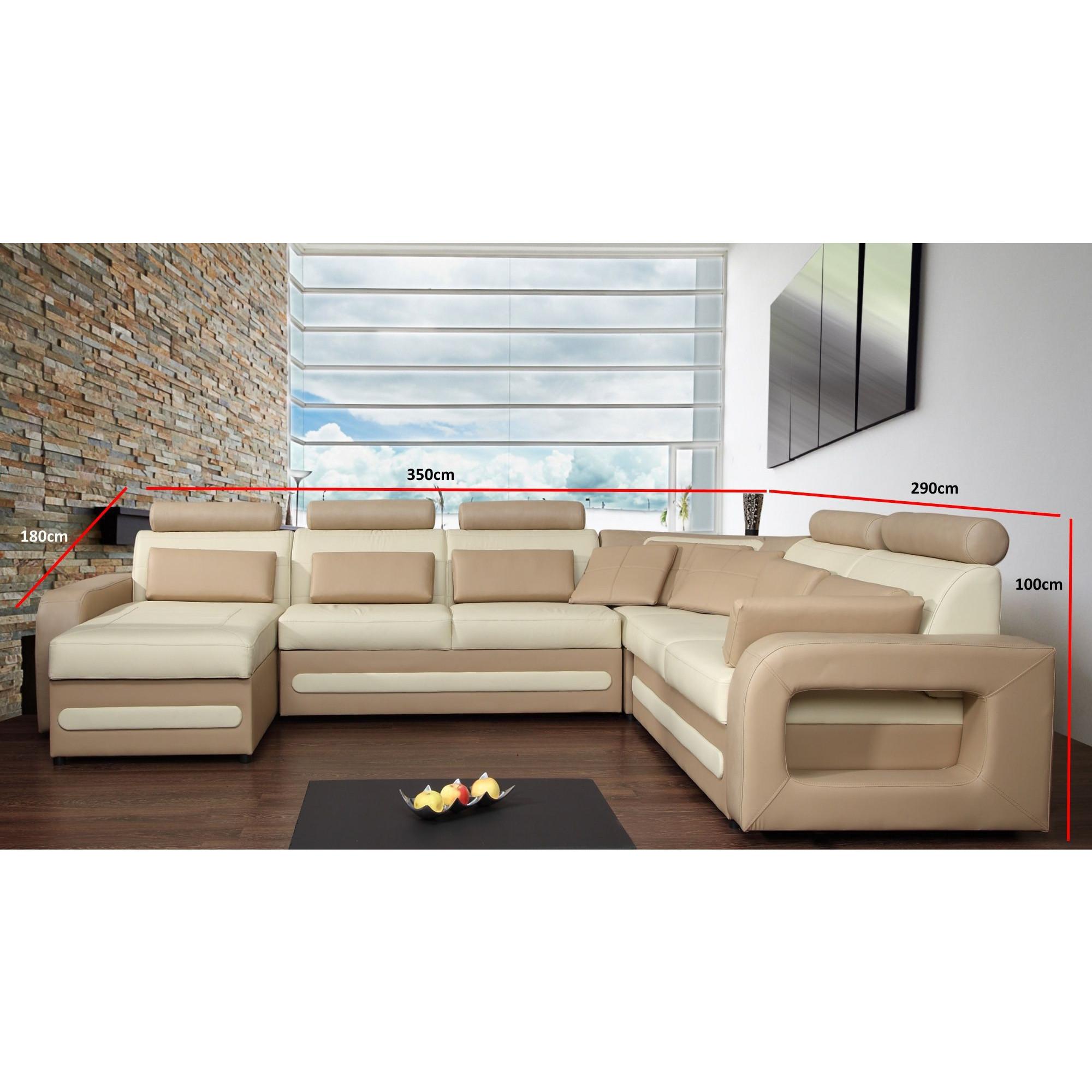Canapé d angle U convertible avec coffre de rangement et