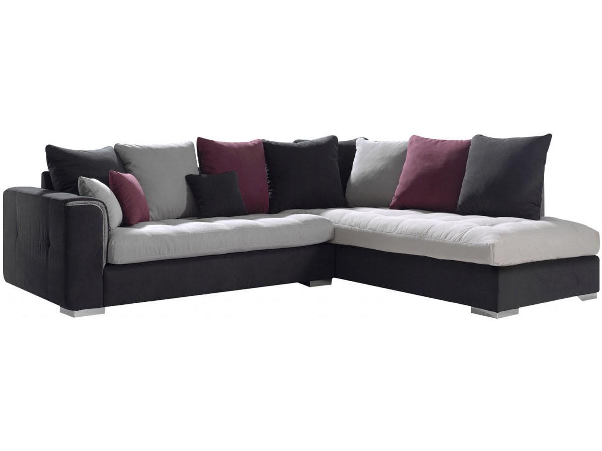 Canapé moderne d angle à droit avec méri nne en tissu