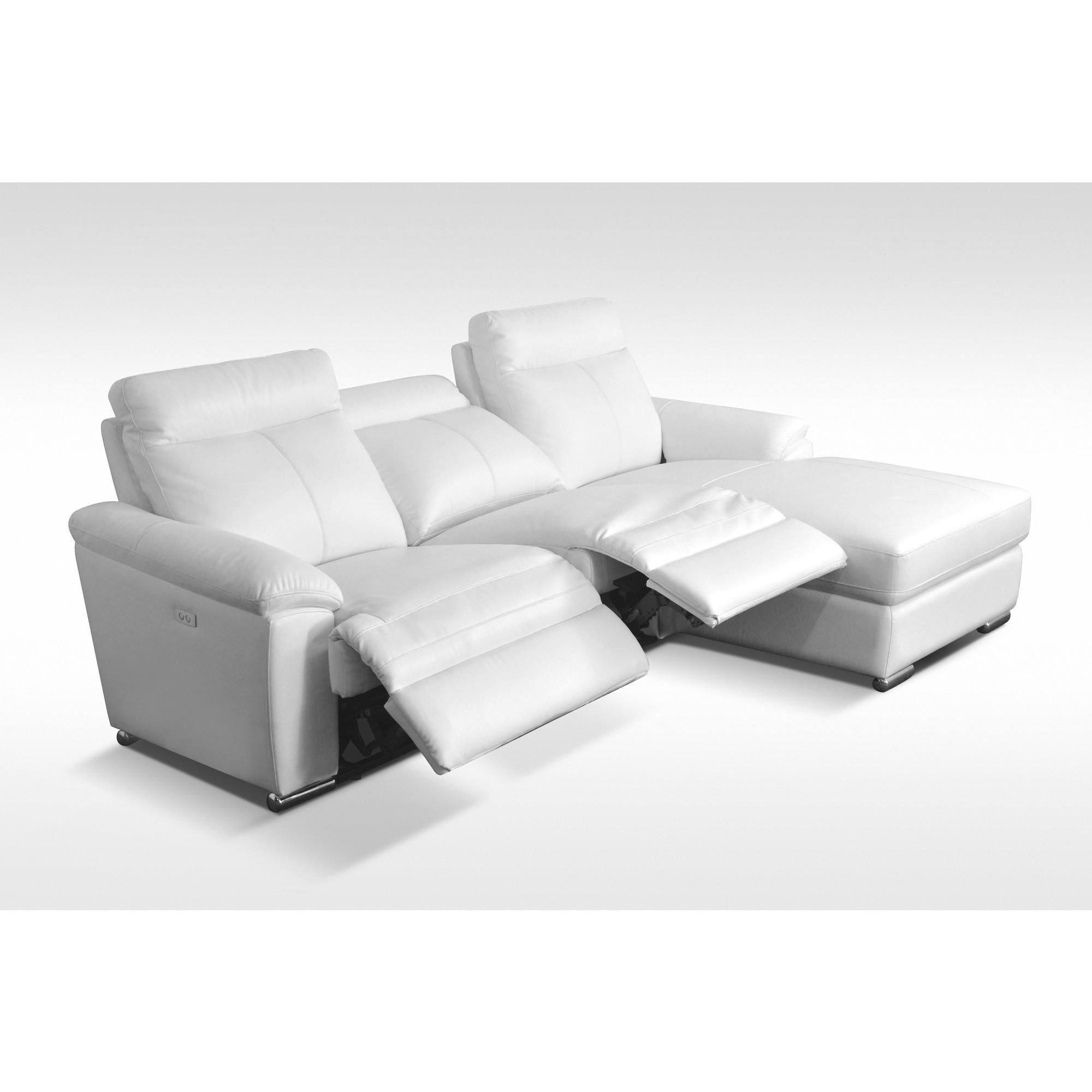 SOLDES Canapé d angle design avec relax électriques et