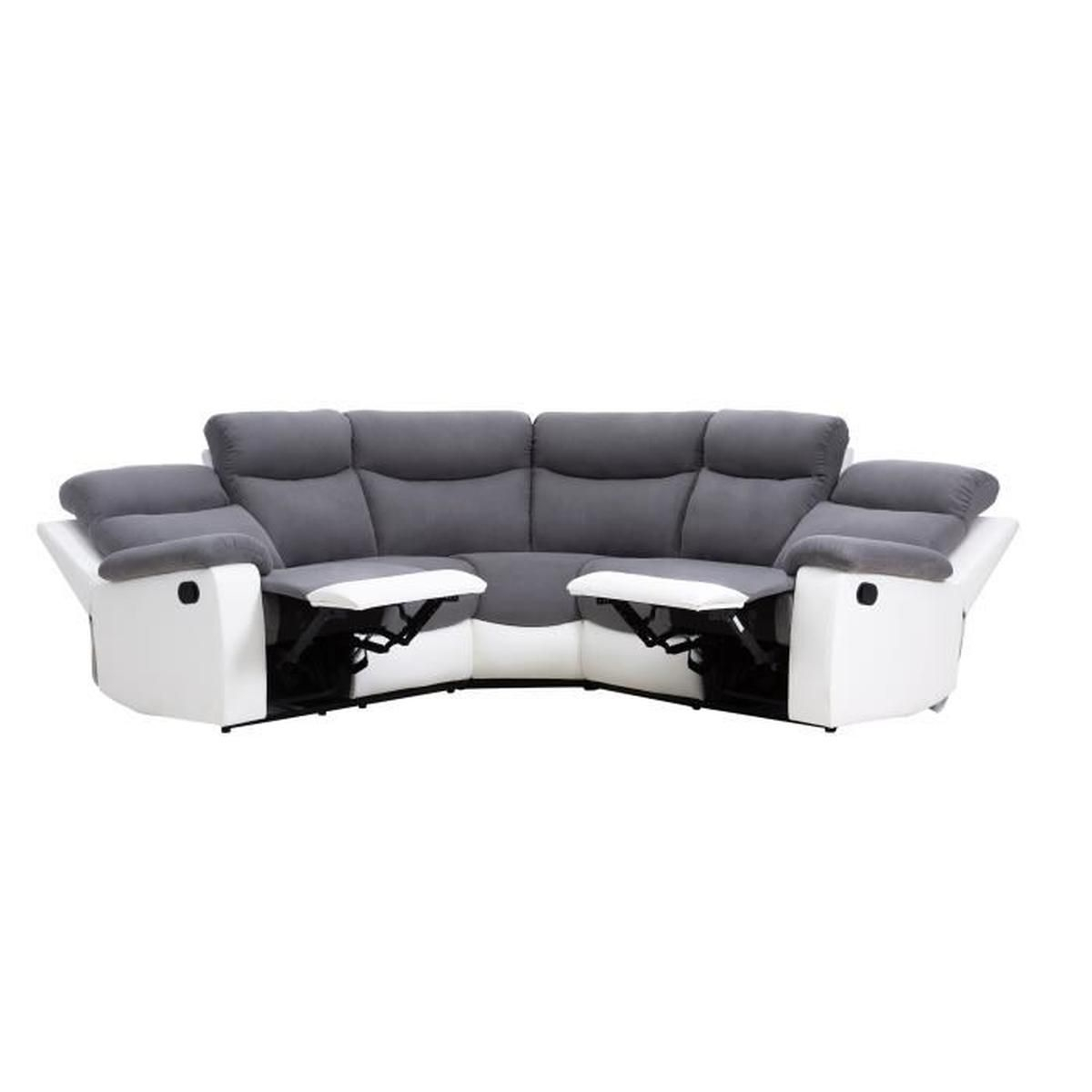 Canape angle relax electrique Achat Vente Canape angle