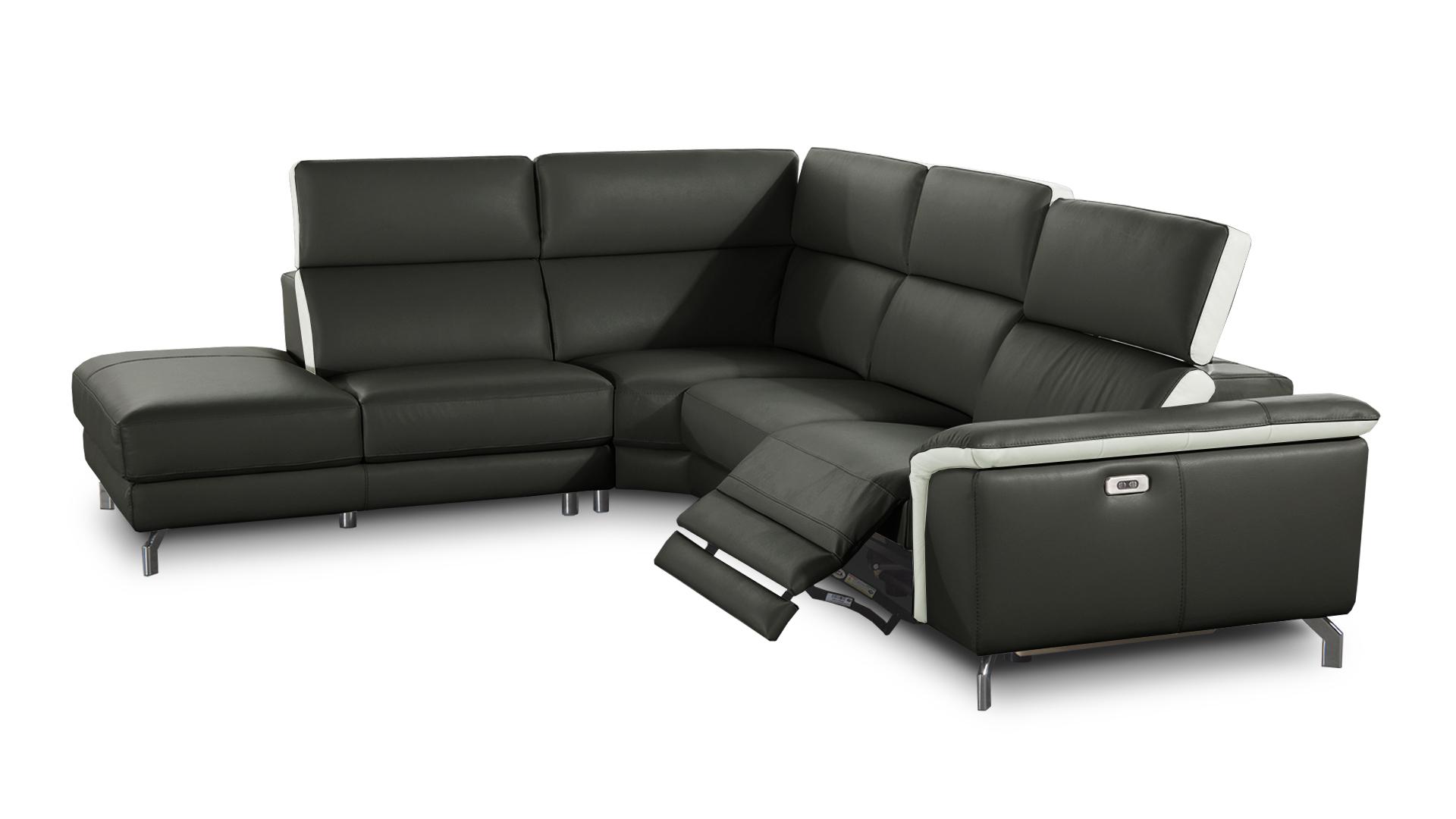 Canapé d angle cuir relaxation Canapé d angle cuir