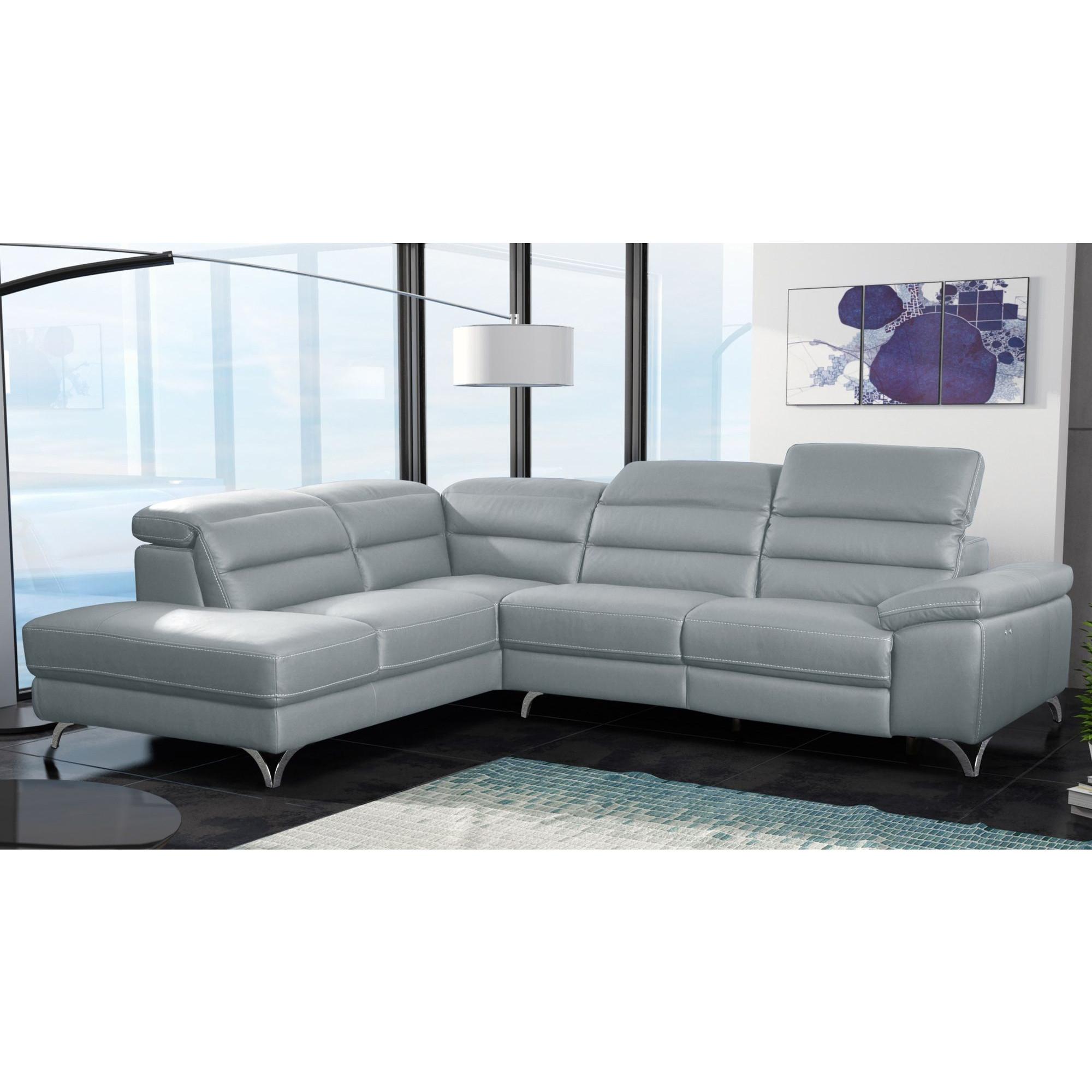 Canapé d angle design avec relax électrique et méri nne