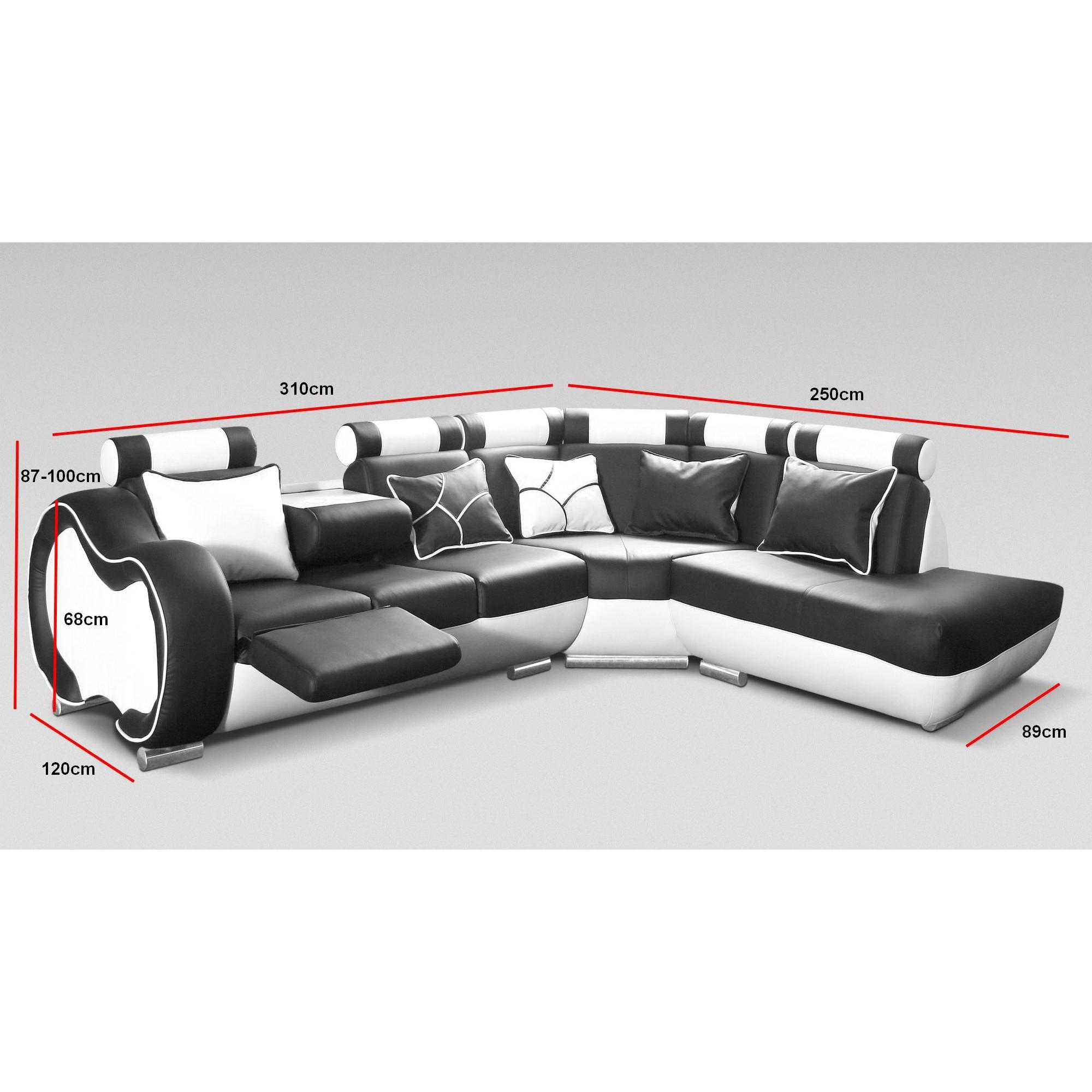 Canapé d angle droit design 5 places avec petite