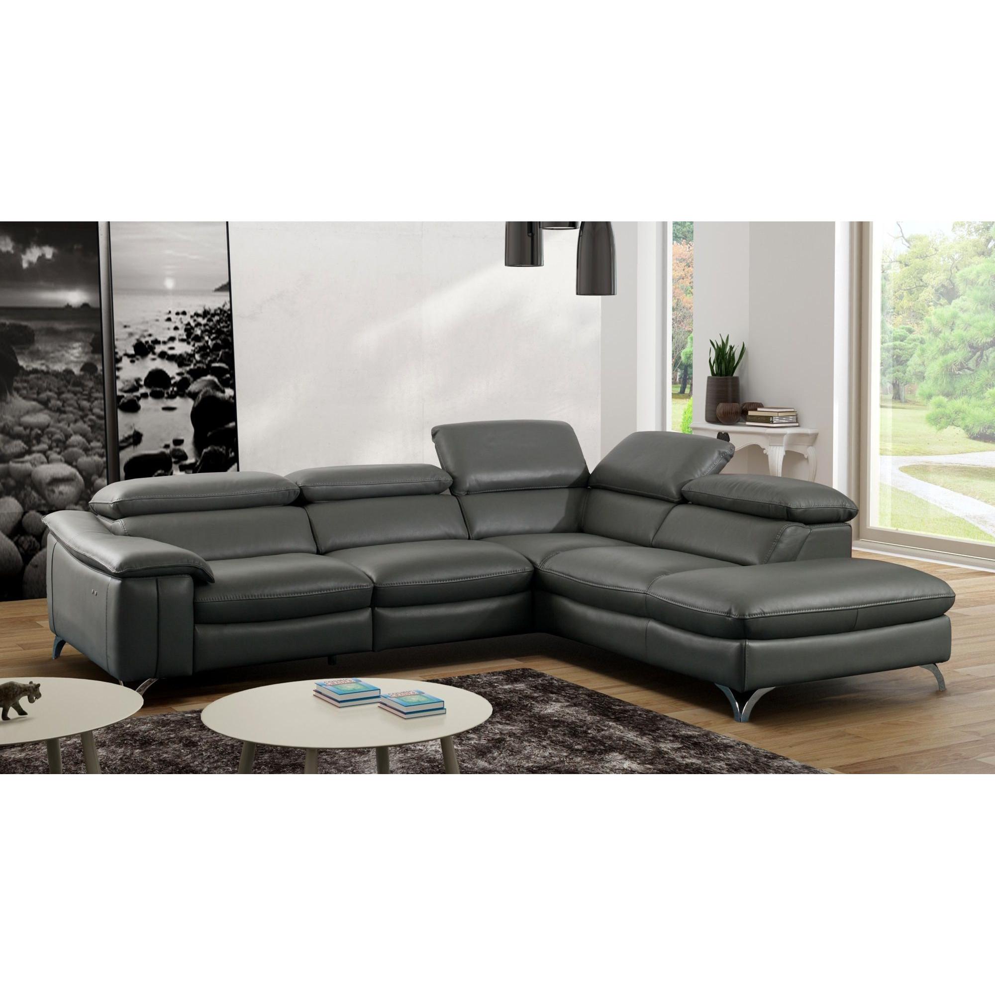 Canapé d angle relax électrique design avec méri nne