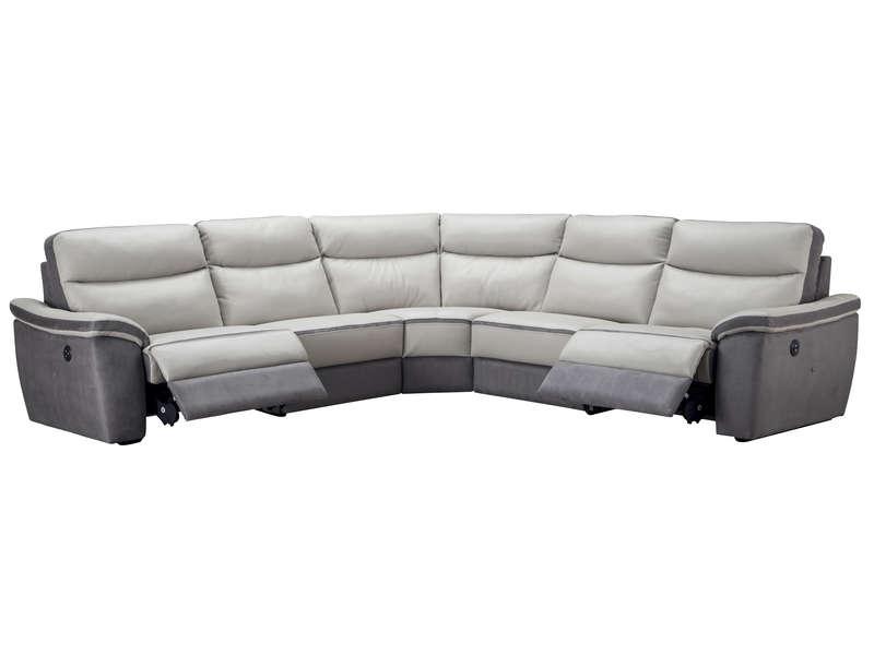 Canapé d angle relaxation électrique 5 places en cuir