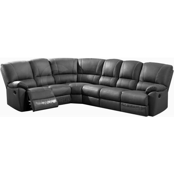 Salons Canapé d angle 6 places en cuir avec relax manuel