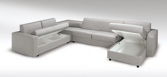 Canapé d angle convertible design avec un vrai lit