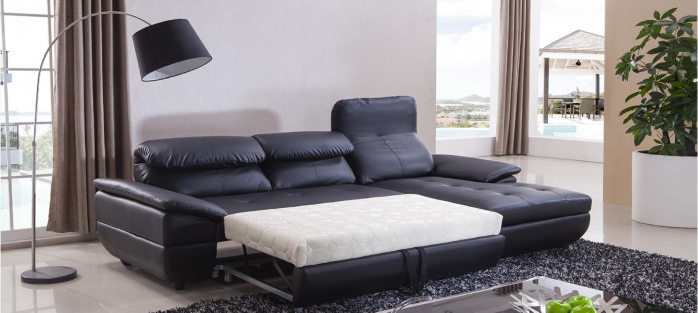 Canapé d Angle Convertible en Cuir