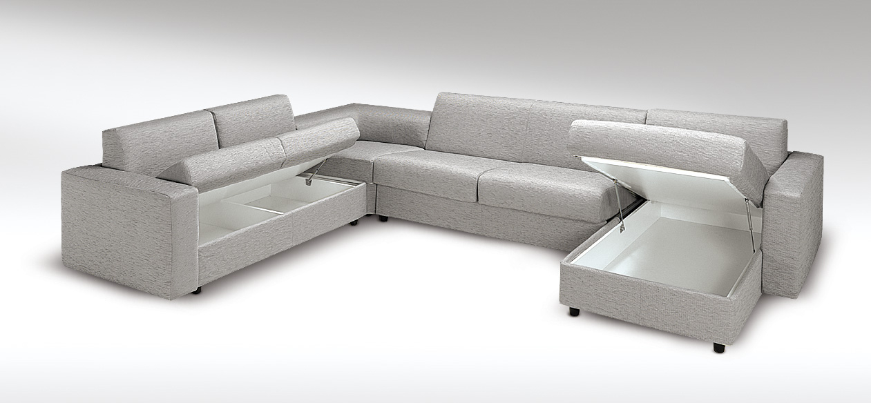 Canapé d angle design convertible en lit Roma