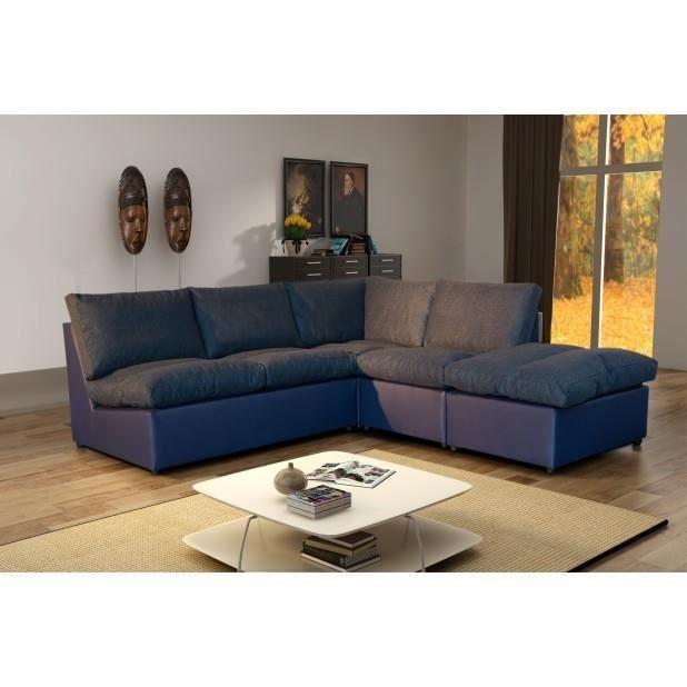 Canapé d angle modulable Avanti bleu marine Achat