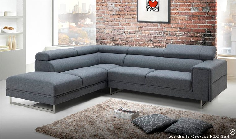 Canapé d angle tissu design et confort Canapé haut de